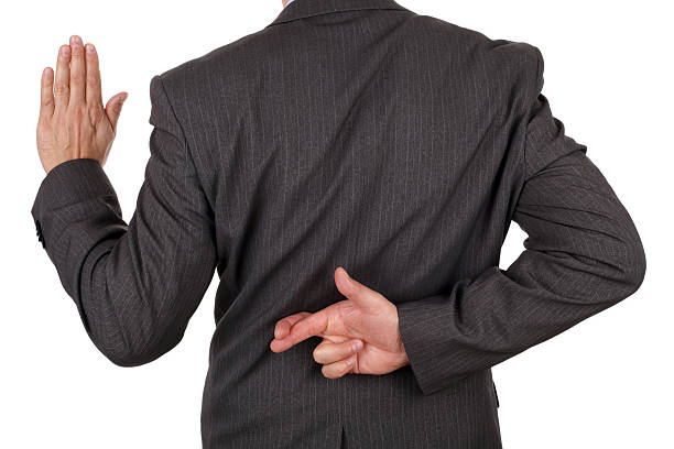 Business fraud stock photo