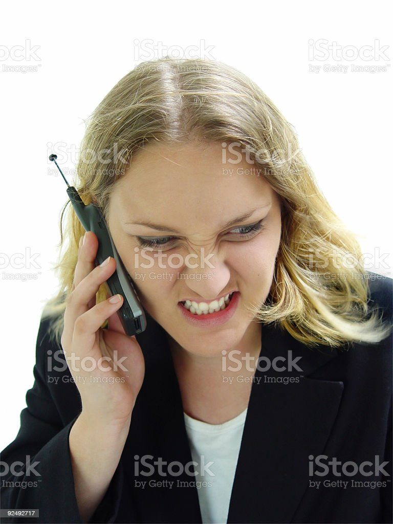 business - frustration conversation royalty-free stock photo