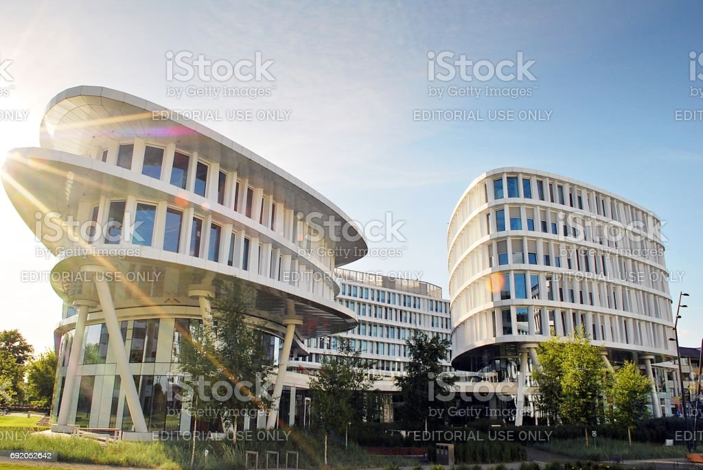 Business Garden complex stock photo