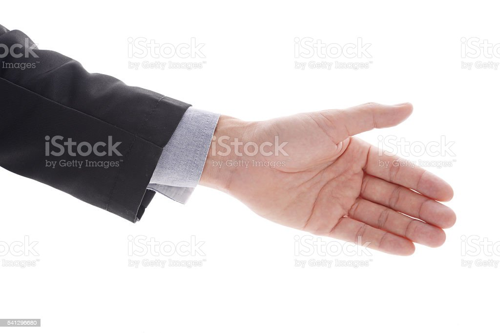 Business giving hand stock photo