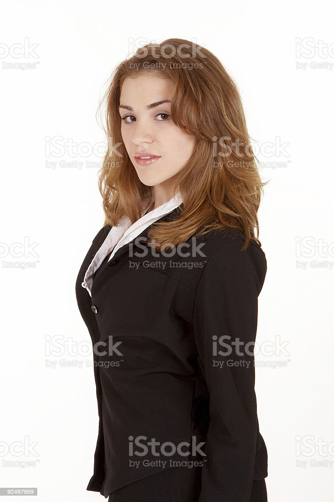 Business glance royalty-free stock photo