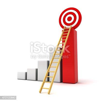 1014851458 istock photo Business goal target graph 472122842
