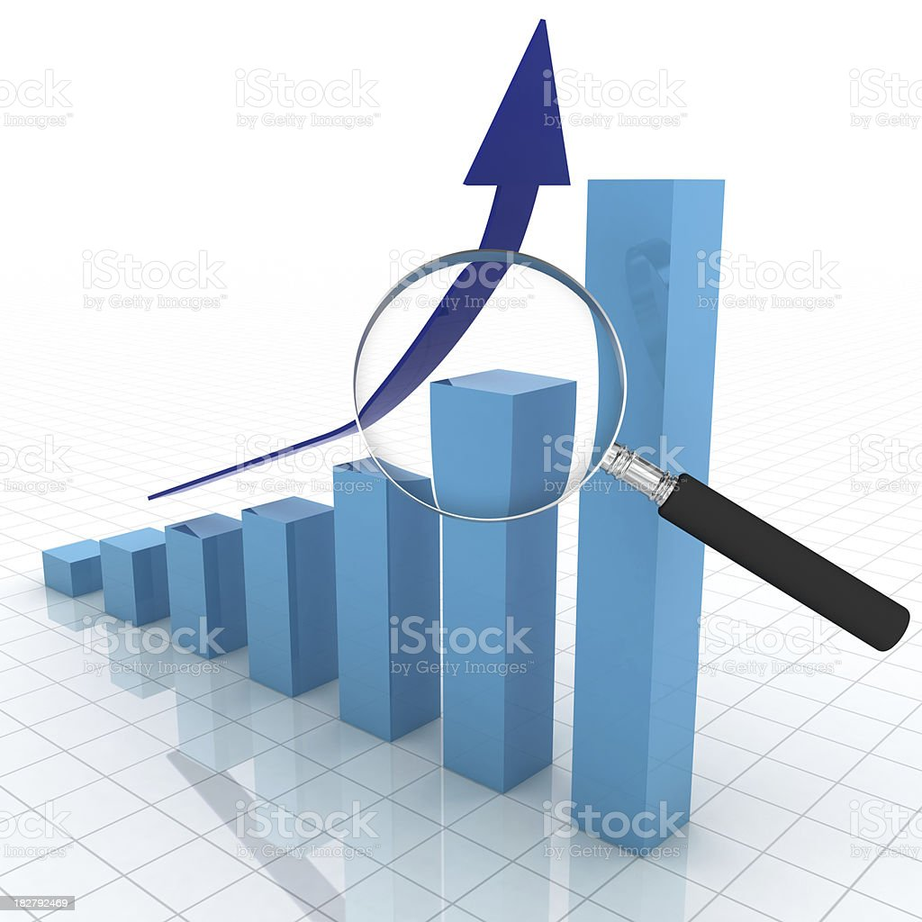 Business Graph Analysis royalty-free stock photo