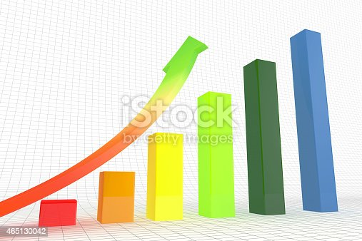 486678786 istock photo Business graph and chart. 465130042