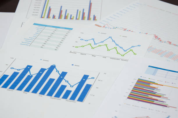 business graph and chart - market research stock photos and pictures