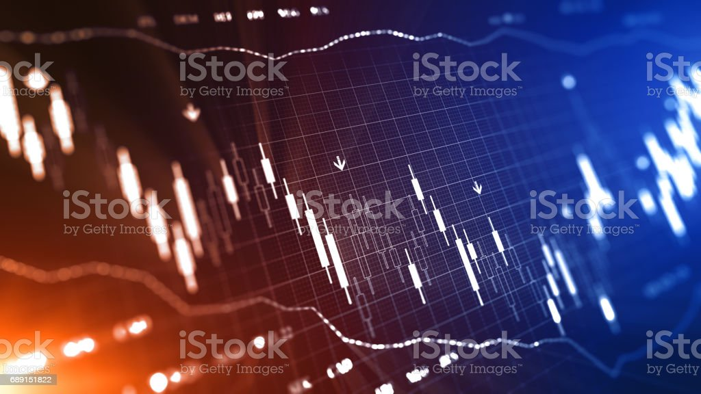 Business graph and charts stock photo