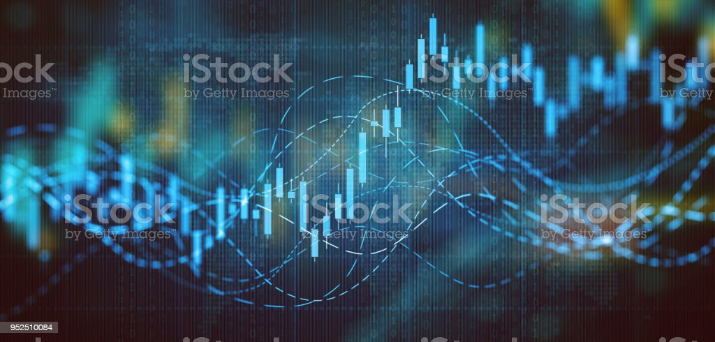 Business graph and charts royalty-free stock photo