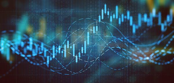 Business graph digital concept