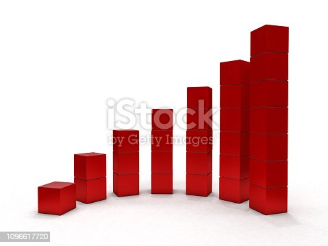 istock Business graph and growth chart. 3D 1096617720