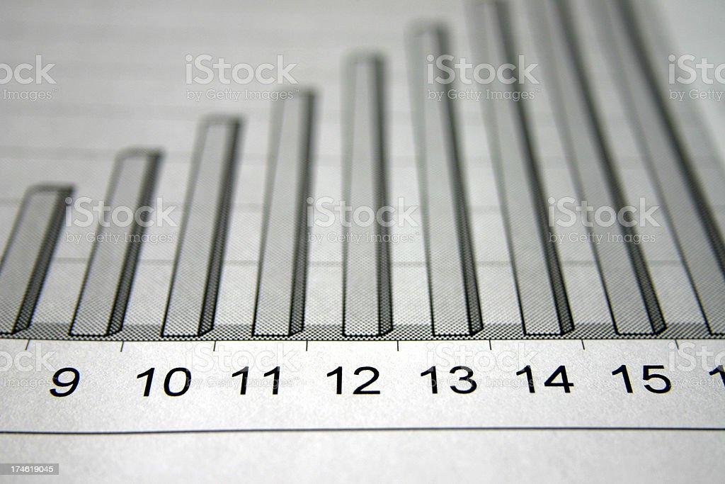 Business graph booming royalty-free stock photo