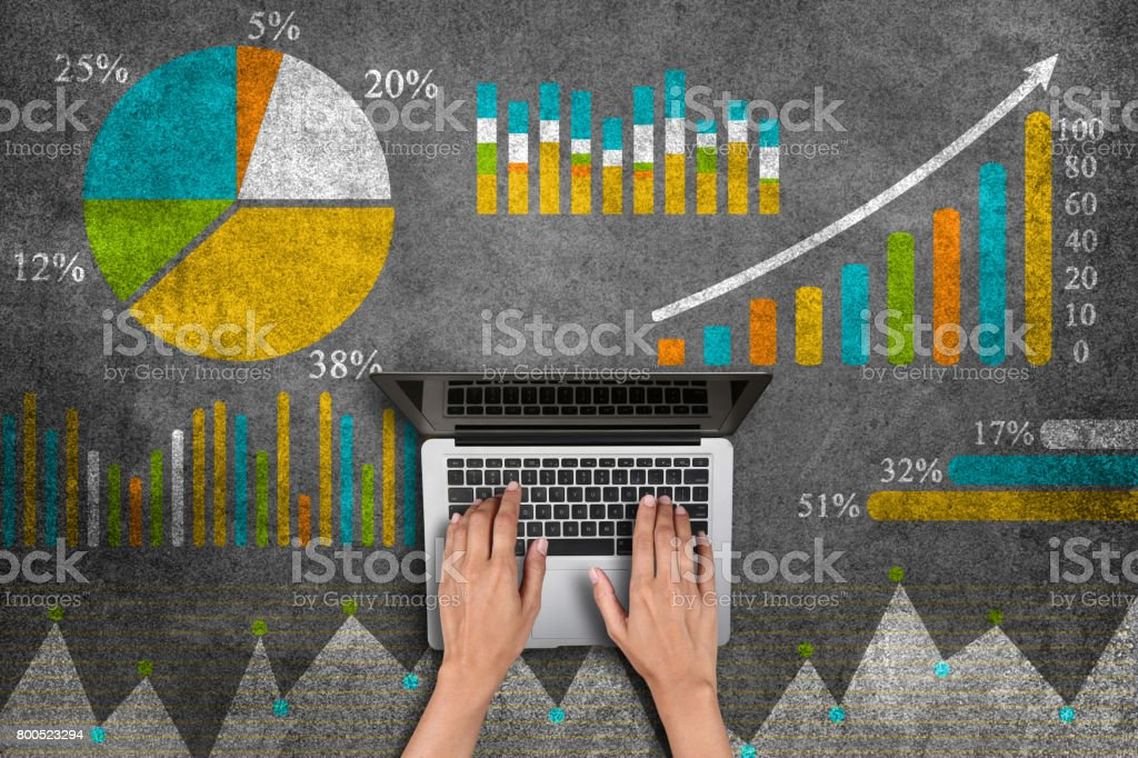 Business graph concept - foto stock