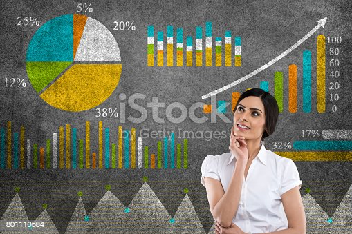 istock Business graph concept 801110584