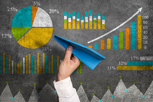 istock Business graph concept 801117254