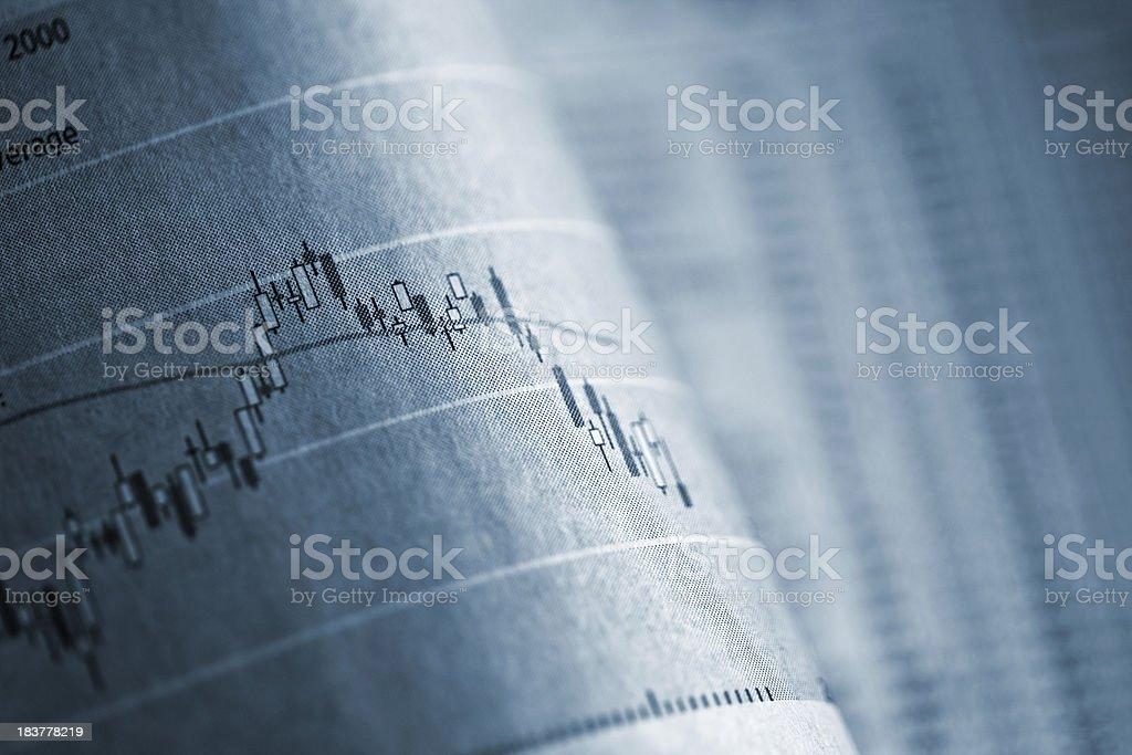 Business graph in Zeitung – Foto