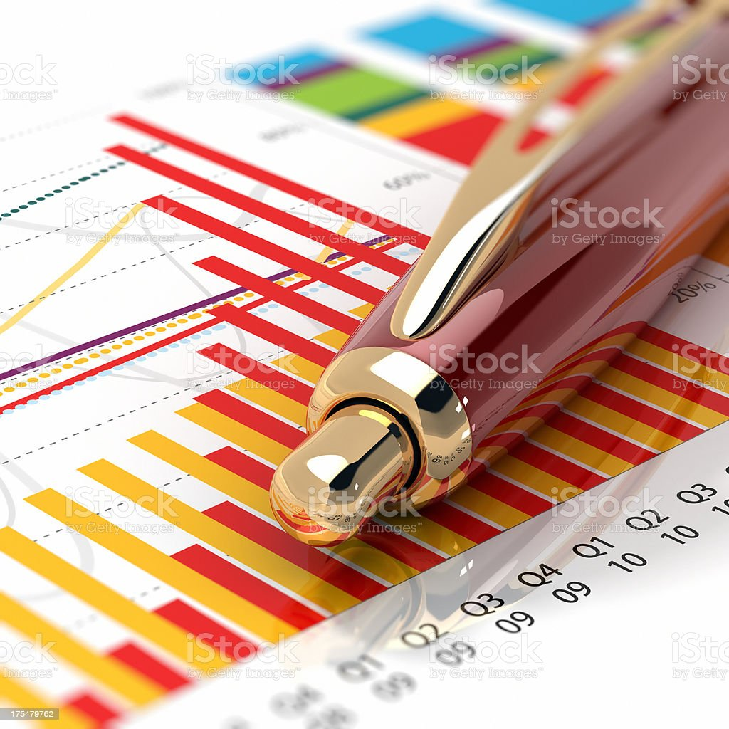 Business Graph Marco royalty-free stock photo