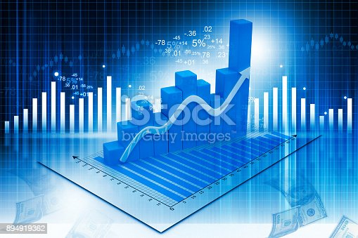 1040865674istockphoto Business graph on abstract financial background 894919362