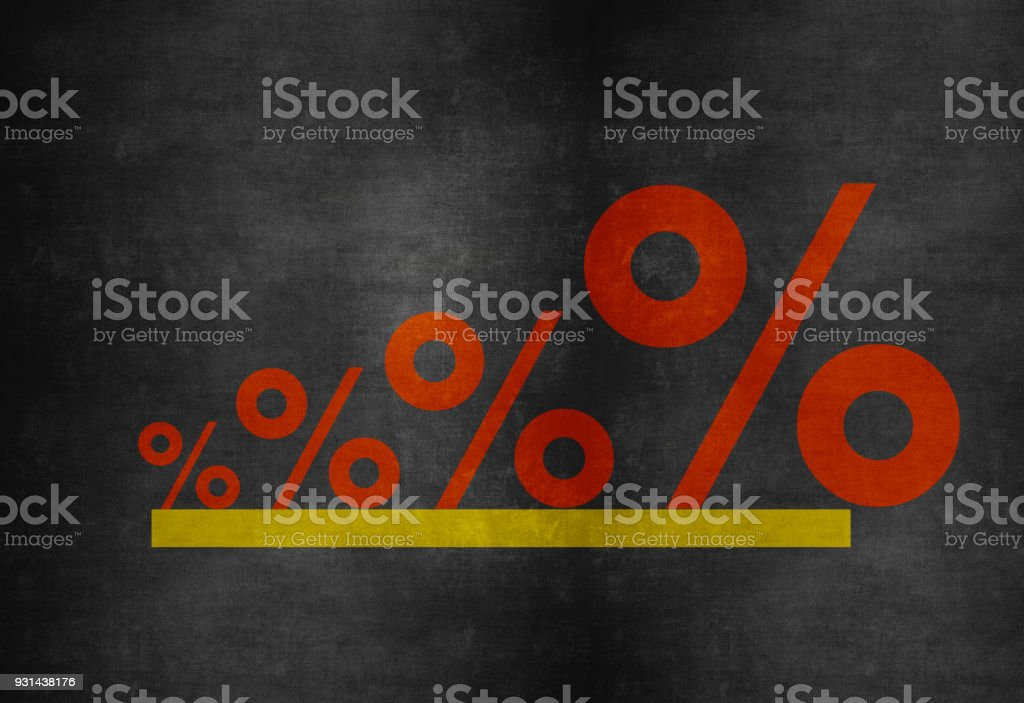 Business Graph on Blackboard Background stock photo