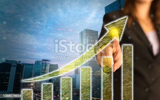 istock Business Graph on Touch Screen 1068528654