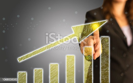 istock Business Graph on Touch Screen 1068535052