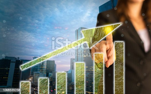 istock Business Graph on Touch Screen 1068535258