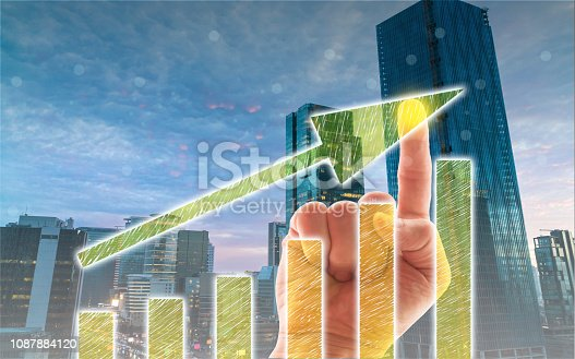 1051659174istockphoto Business Graph on Touch Screen 1087884120