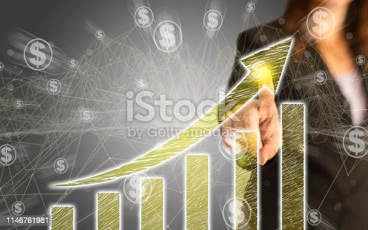 istock Business Graph on Touch Screen 1146761981