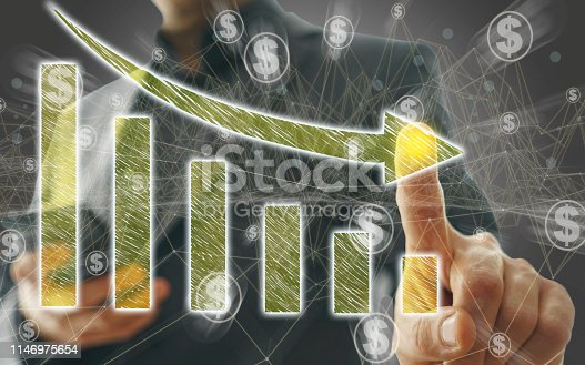 istock Business Graph on Touch Screen 1146975654
