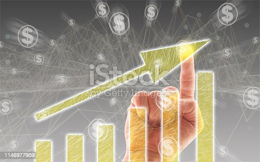istock Business Graph on Touch Screen 1146977959