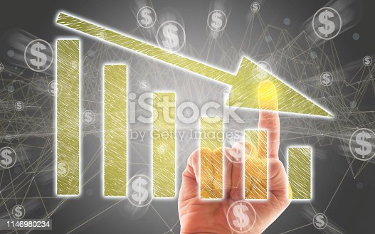 istock Business Graph on Touch Screen 1146980234