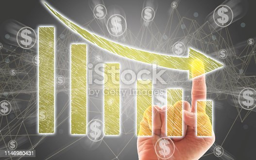 istock Business Graph on Touch Screen 1146980431
