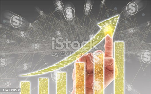 istock Business Graph on Touch Screen 1146980568