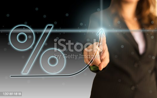 519831260 istock photo Business Graph on Touch Screen 1201811818
