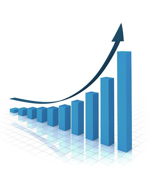 grafico di business - diagramma a colonne foto e immagini stock