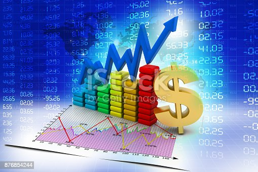 istock Business graph 876854244