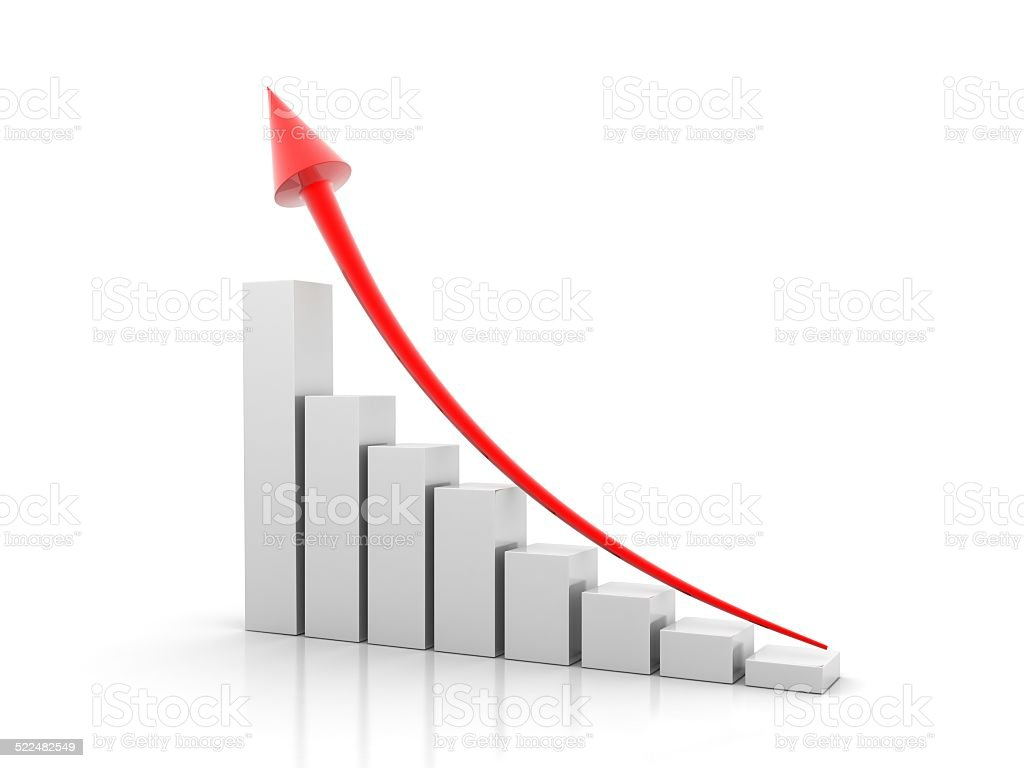 Business graph showing growth stock photo