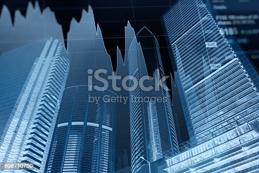 611868428 istock photo Business graph stock market background 698710750