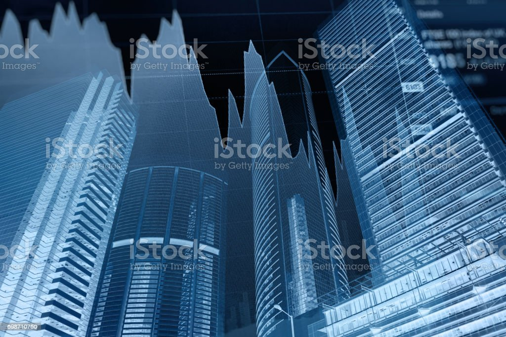 Business graph stock market background - foto stock