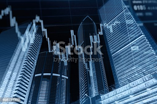 611868428 istock photo Business graph stock market background 698711352