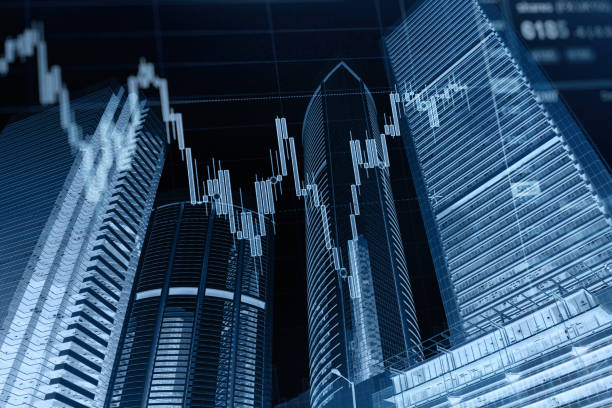 業務圖股票市場背景 - building graphic 個照片及圖片檔