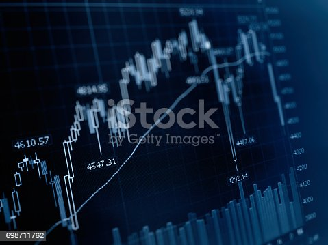 611868428 istock photo Business graph stock market background 698711762