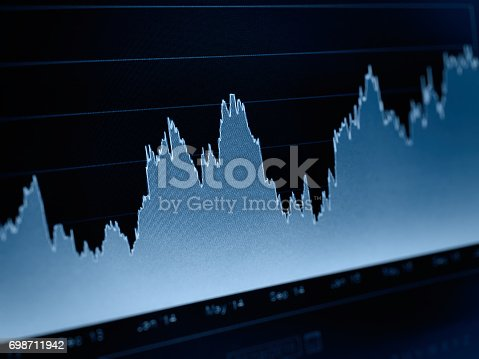 istock Business graph stock market background 698711942