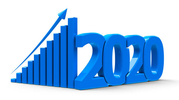 Business graph up 2020 #2 stock photo