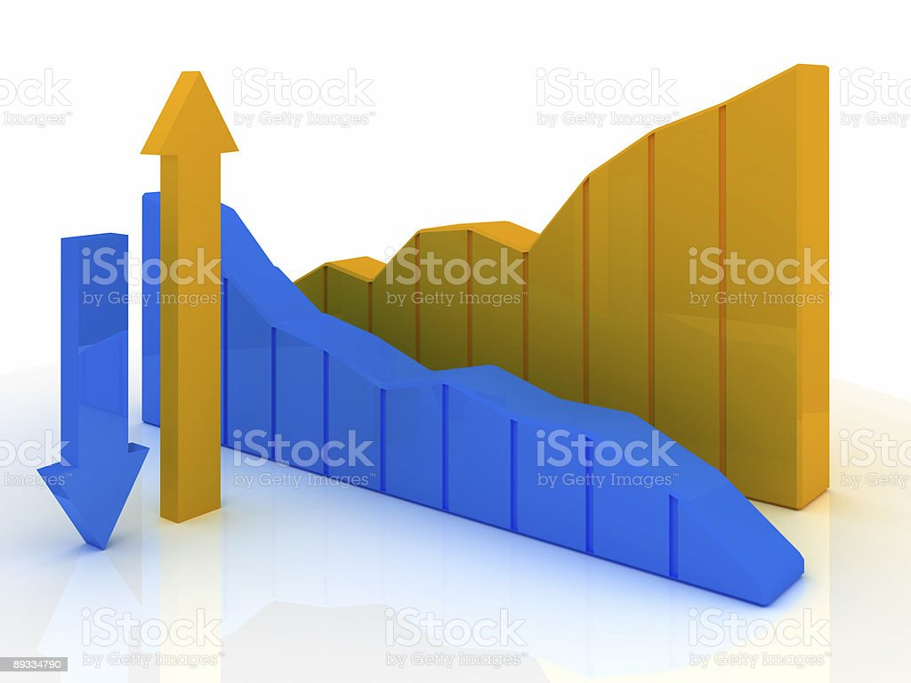Business Graph v17 royalty-free stock photo