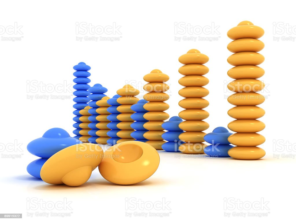 Business Graph v2 royalty-free stock photo