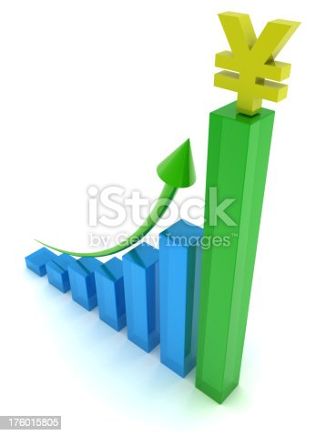 istock Business Graph - Yen Symbol 176015805