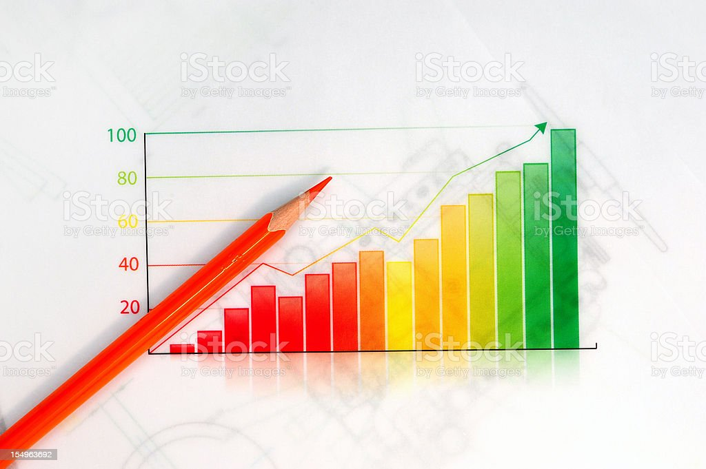 Business Graph-Growth Concept-Business Finance Success Chart royalty-free stock photo