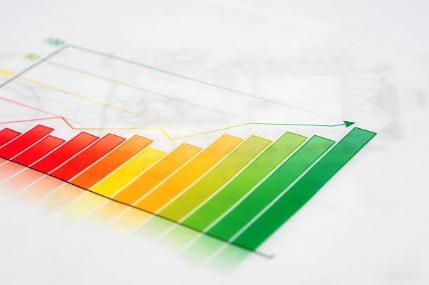 business graph-wachstum-konzept-business-finanzen erfolg-chart - messlatte stock-fotos und bilder