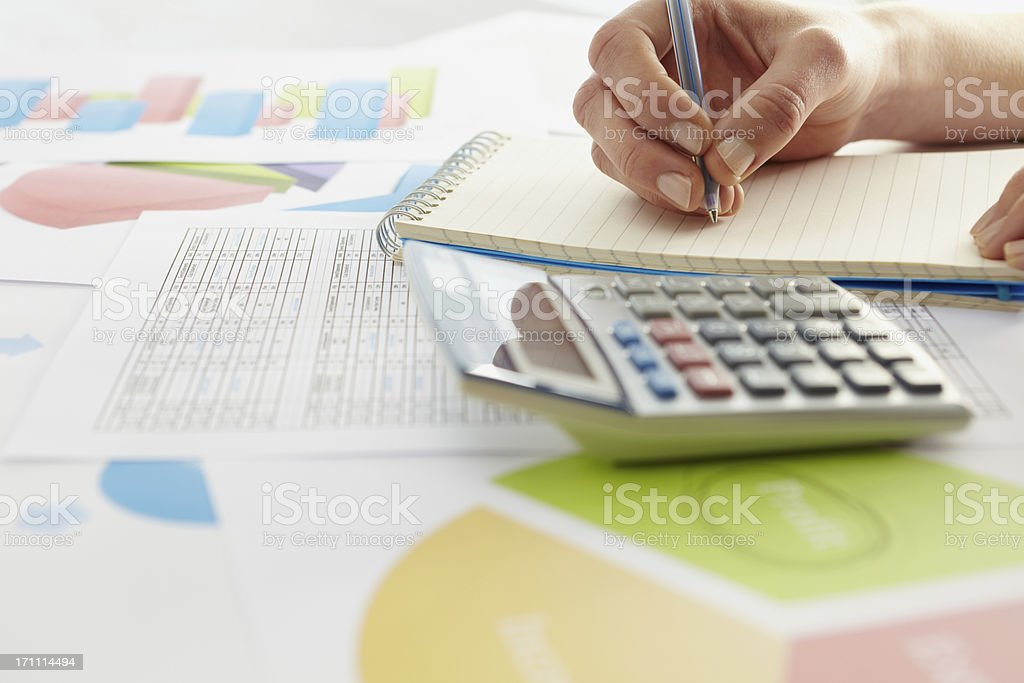 Business graphs and charts royalty-free stock photo