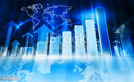 1014755036 istock photo Business graphs and diagrams 1014755036