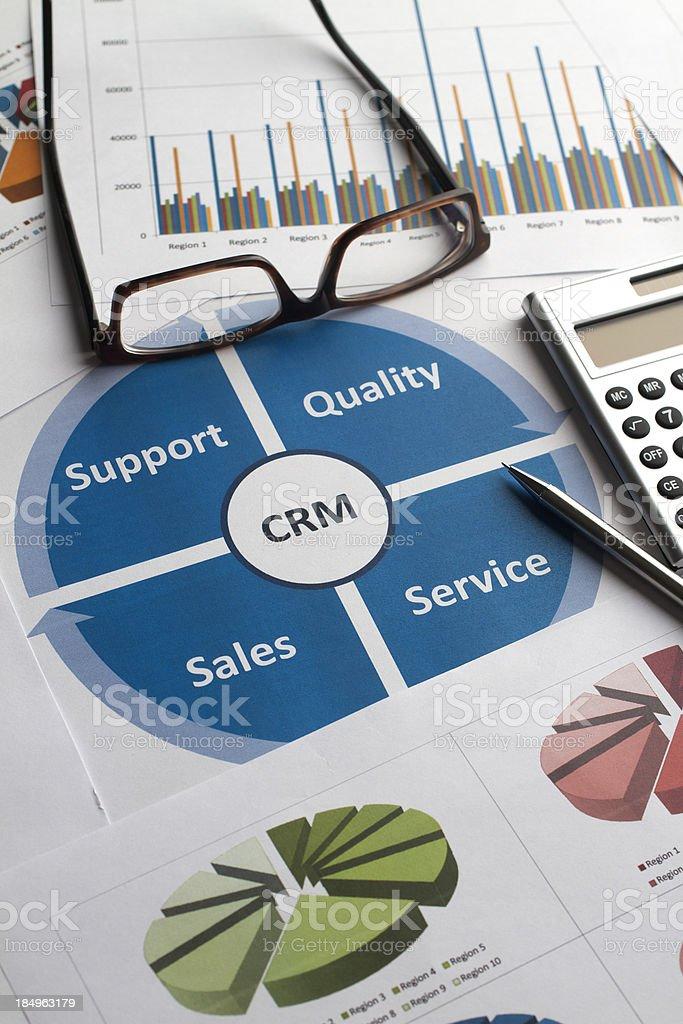 Business-Grafiken & Diagrammen Customer Relationship Management – Foto